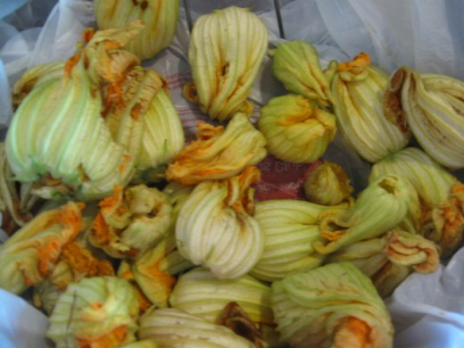 Squash flowers can also be eaten
