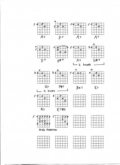 Jazz Guitar chords for blues