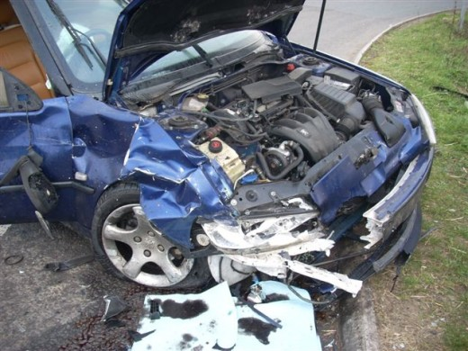 My car after the accident