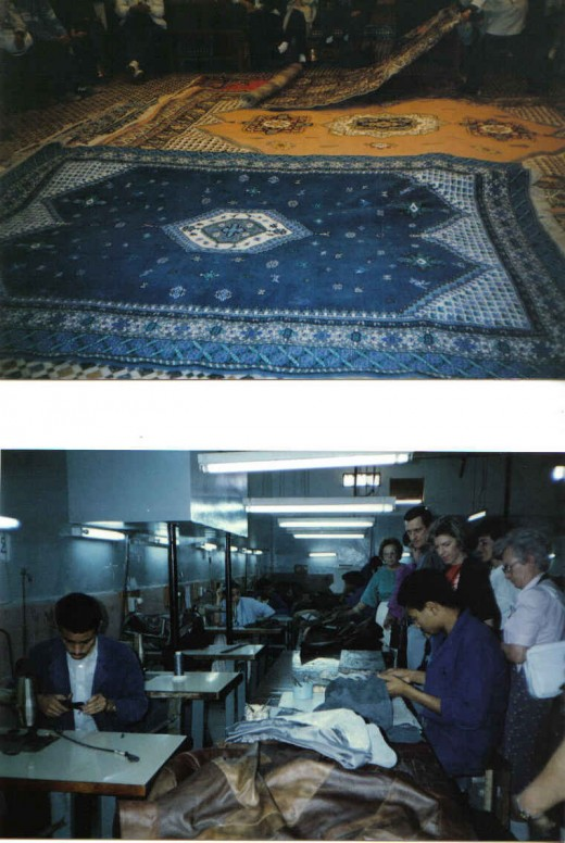 Carpet market, Morocco