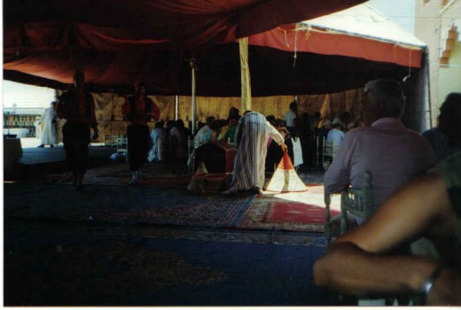At The Berber Tent, Maroccan Fantasia Event