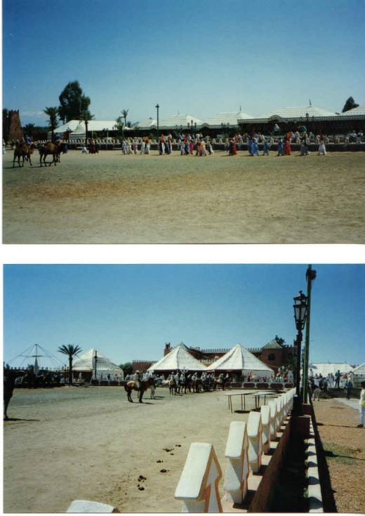 "preparing for  the famous ""Fantasia"" (equestrian Games)"
