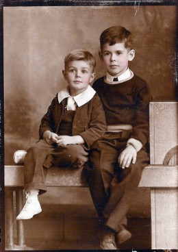 My Uncle on the left as a young boy, along with his brother, my Father!