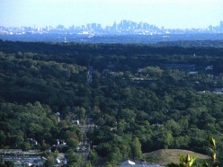 Township of Mahwah, home of closed Ford Assembly Plant; NYC in the background.