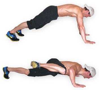 The Spiderman pushup can be done anywhere