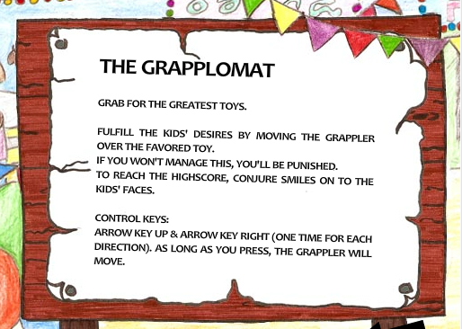 Screen shot of instructions