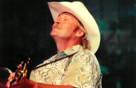 Alan playing the Opry at Fan Fair. One of my favorite pictures because of a special memory.. I gave him this shirt, and he wore it onstage. :)