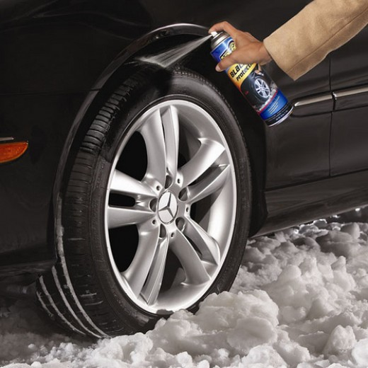 How to use Tyre-Grip Traction Spray.