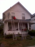 New porch roof