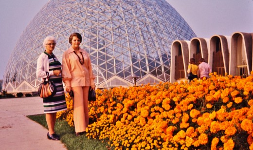 My grandmother and me at the Domes (1973)