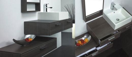 durab wall hung cabinet with countertop basin