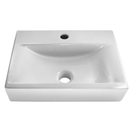 pre drilled single tap hole basin