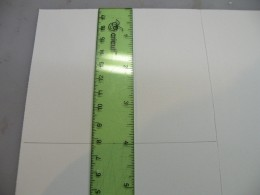 """Measure down 4"""" on the inside of the card."""