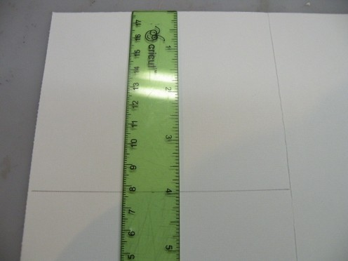 "Measure down 4"" on the inside of the card."