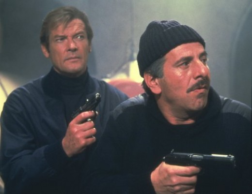 Roger Moore with Topol