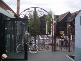 The Willy Wonka gates - and the Courtyard beyond