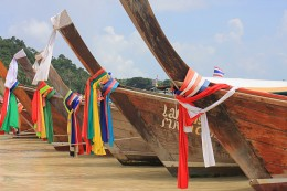 Modes of Transportation from around the World Long-tail boats in the Phi Phi Islands in Thailand