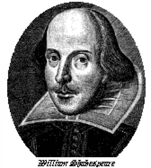 Early print of Shakespeare's likeness.