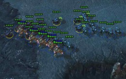 Early 3-player Army Pushes Zerg base
