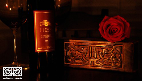 With a bottle of wine and some flowers, this personalized gift will set the perfect mood for Valentine's Day