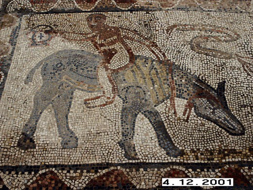 The beautiful Roman Mosaics of Volubilis, Morocco.