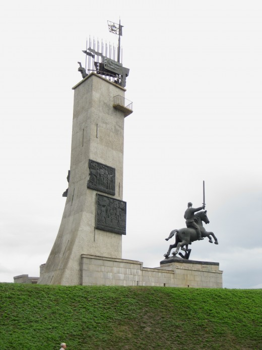 Monument located outside of the South Wall of the Kremlin in Veliky Novgorod, Russia.