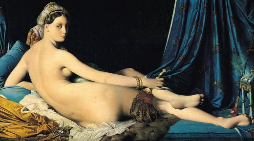 La grande odalisque by Jean Auguste Dominique Ingres.