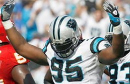 DE Charles Johnson helped ease the loss of Julius Peppers
