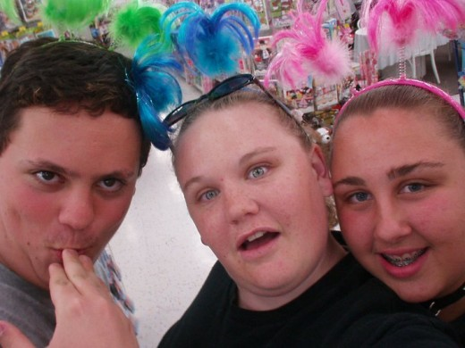 Jason, Me, and Becca on one of our many crazy nights