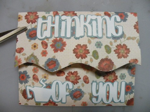 Thinking of You adhered to card