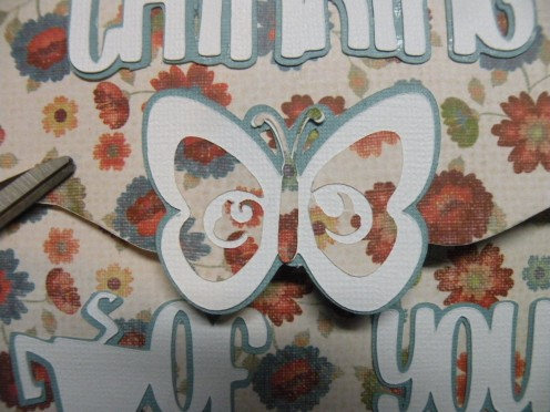 Large butterfly adhered