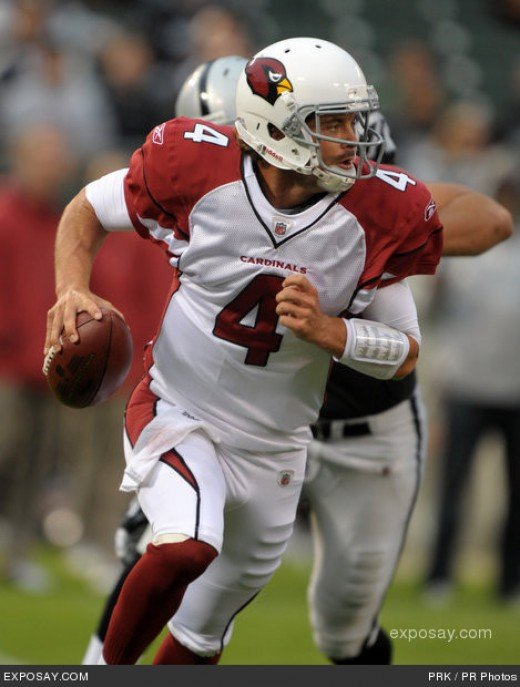 QB Kevin Kolb will greatly improve the offense