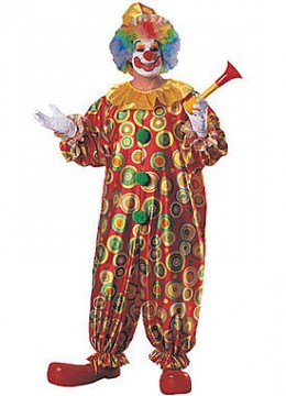 Adult Plus Jack the Jolly Clown Costume