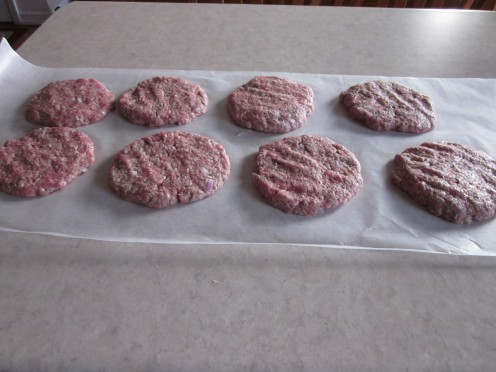 Shape meat mixture into eight patties.