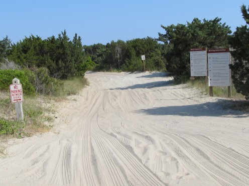 Ramp 67 access to Ocracoke Beach