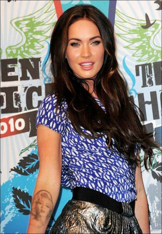 Megan Fox with tattoos