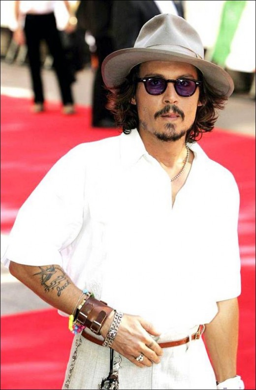 johnny depp with tatoos