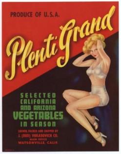 vintage vegetable crate labels