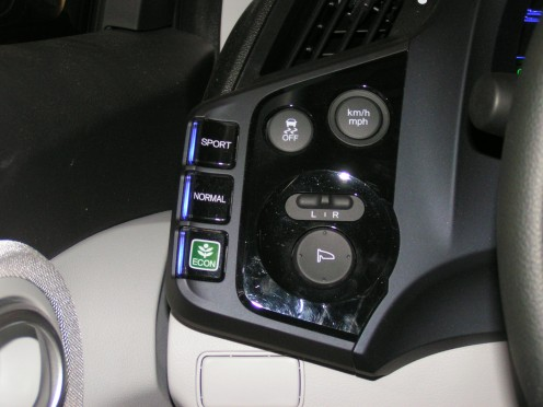 3-Mode Driving System lets you tailor your driving experience.