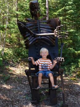 Skeleton chair.