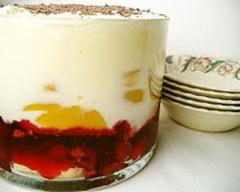 Trifle, cake, jelly, fruit, custard, cream