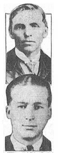 Harold Lotridge (front) and the man he saw in his dream