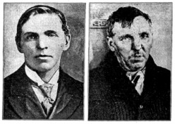 Adolph Hotelling, before and after a bruising night in the cells
