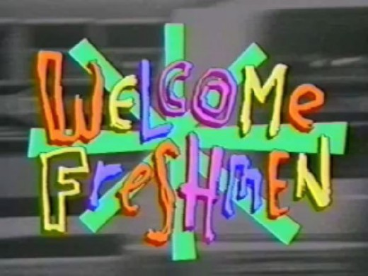 Seniors welcoming Freshman in college