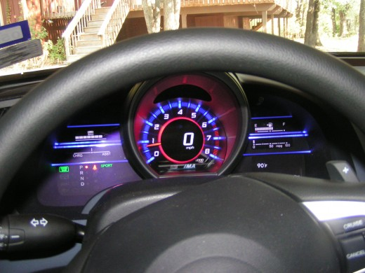 Notice the Red on the Tachometer