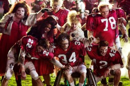 The Gleeks in full zombie make-up performing the mash-up of Thriller/Heads Will Roll.
