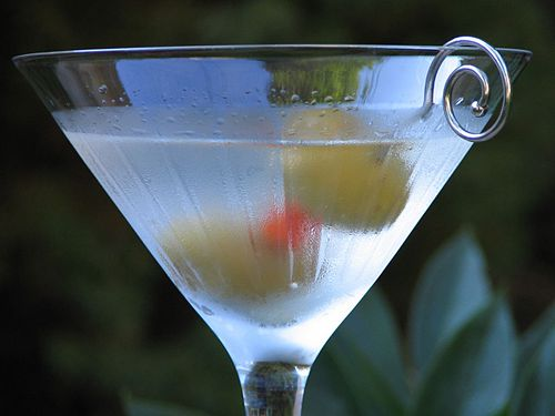 The Classic Martini with an Olive garnish.