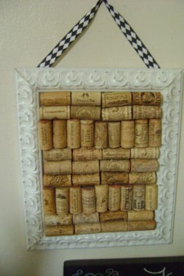 Tah Dah! A cork board to match your decor!