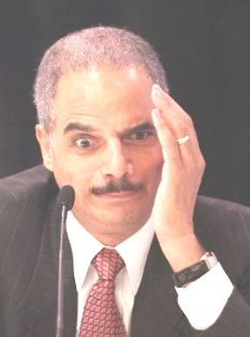This is crazy corrupt man Eric Holder in case someone did not know who he was.