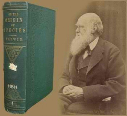 Charles Darwin and his book The Origin of the Specie